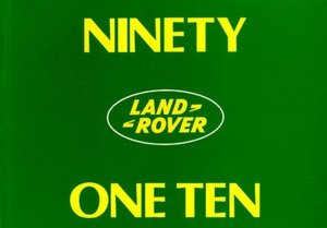 Land Rover 90 and 110 Handbook cover