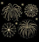 Bling Stickers-Fireworks Gold by Jolees: Product Image