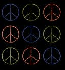 Bling Stickers-Peace Seals by Jolees: Product Image
