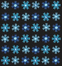 Bling Stickers-Blue Mini Flowers by Jolees: Product Image