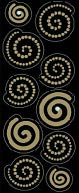 Bling Stickers-Mini Gold Swirls by Jolees: Product Image