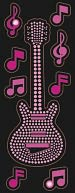 Bling Stickers-Guitar by Jolees: Product Image