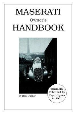Maserati Owner's Handbook cover
