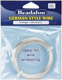 German Style Round Wire 22 Gauge 32.8 Feet/Pkg-Silver by Beadalon: Product Image