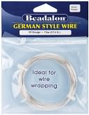 German Style Round Wire 24 Gauge 37.4 Feet/Pkg-Silver by Beadalon: Product Image