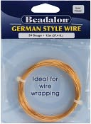 German Style Round Wire 24 Gauge 37.4 Feet/Pkg-Gold by Beadalon: Product Image