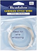 German Style Round Wire 26 Gauge 65.5 Feet/Pkg-Silver by Beadalon: Product Image