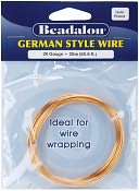 German Style Round Wire 26 Gauge 65.6 Feet/Pkg-Gold by Beadalon: Product Image