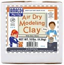 Air Dry Modeling Clay 10 Pounds-White by AMACO: Product Image