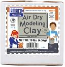 Air Dry Modeling Clay 10 Pounds-Gray by AMACO: Product Image