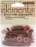Elements Old World Assorted Beads 18 Grams/Pkg-Antique Cinnabar by Beadery: Product Image