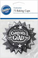 Baking Cups-Graduation 75/Pkg - Standard by Wilton: Product Image