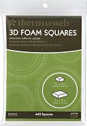 3D Foam Squares Combo Pack 440/Pkg-White by Thermoweb: Product Image