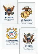 "Military Pride Counted Cross Stitch Kit-10""X8"" by Dimensions: Product Image"