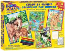 Dimensions Pencil By Number Kit 9&quot;X12&quot; Set of 4: Animal Friends by Dimensions: Product Image