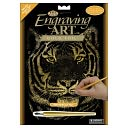 Gold Foil Engraving Art Kit 8&quot;X10&quot;-Bengal Tiger by Royal Brush: Product Image