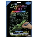 "Rainbow Foil Engraving Art Kit 8""X10""-Sea Turtle by Royal Brush: Product Image"