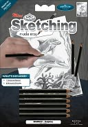 "Mini Sketching Made Easy Kit 5""X7""-Dolphins by Royal Brush: Product Image"