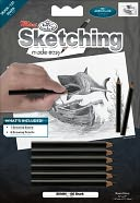 "Mini Sketching Made Easy Kit 5""X7""-Shark by Royal Brush: Product Image"