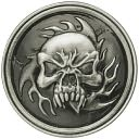 "Antique Silver Concho 1-1/4""-Ghostrider by Leather Factory: Product Image"