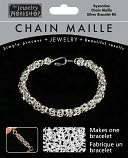 Chain Maille Jewelry Kit-Byzantine Bracelet-Silver by Midwest Products: Product Image