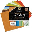 "Adhesive Texture Neutrals Mat Stack 6""X6""-48 Sheets by Diecuts With A View: Product Image"