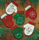 Mittens Ornament Kit-Set Of Six by Rachel's Of Greenfield: Product Image