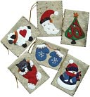 "Gift Bag Ornaments Kit-3""X4"" Set Of Six by Rachel's Of Greenfield: Product Image"