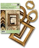 Ancestry.com Adhesive Die-Cut Embossed Frames-44/Pkg - 4 Sheets Each Of 5 Designs by K&amp;Company: Product Image