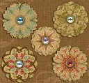 Bailey Metal Art Embellishments-Flower Brads With Glitter, Foil &amp; Beads by K&amp;Company: Product Image