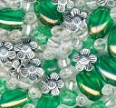 Bracelet Blends Beads-Oval Mix Lime by Cousin: Product Image