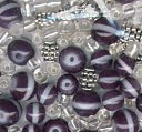 Bracelet Blends Beads-Stripe Mix Black by Cousin: Product Image