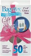 "Bagettes Self-Sealing Gift Bags 3""X4"" 50/Pkg-Clear by Cousin: Product Image"