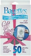 "Bagettes Self-Sealing Gift Bags 6""X8"" 50/Pkg-Clear by Cousin: Product Image"