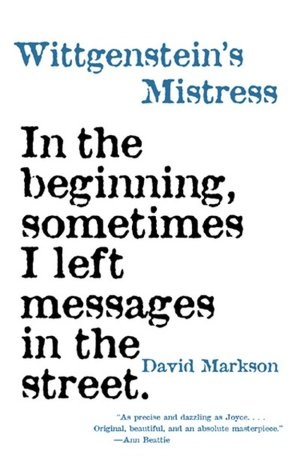 Download free ebooks pdfs Wittgenstein's Mistress 9781564782113 by David Markson (English Edition)