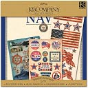 "Military Scrap Kit 12""X12""-Navy by K&Company: Product Image"