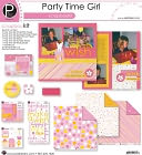 "Party Time Scrapbook Page Kit 12""X12""-Girl ScrapbooKit by Pebbles: Product Image"
