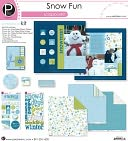 "Snow Fun Scrapbook Page Kit 12""X12"" by Pebbles: Product Image"