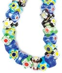 "Millefiori Glass Bead Strands-8x10mm Bar Bells 7"" Strand by Darice: Product Image"