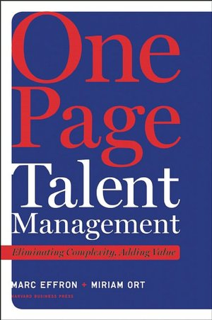 Free iphone ebook downloads One Page Talent Management: Eliminating Complexity, Adding Value
