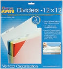 "Cropper Hopper Dividers 3/Pkg-Frost 12""X12"" by Advantus: Product Image"