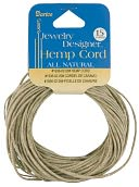 Hemp Cord 20# 15 Yards/Pkg-Natural by Darice: Product Image