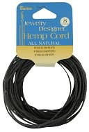 Hemp Cord 20# 8 Yards/Pkg-Black by Darice: Product Image