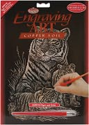 Copper Foil Engraving Art Kit 8&quot;X10&quot;-Tiger &amp; Cubs by Royal Brush: Product Image