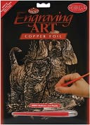 Copper Foil Engraving Art Kit 8&quot;X10&quot;-Kitten &amp; Puppy by Royal Brush: Product Image