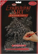 Copper Foil Engraving Art Kit 8&quot;X10&quot;-Giraffe &amp; Baby by Royal Brush: Product Image