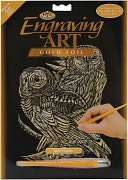 Gold Foil Engraving Art Kit 8&quot;X10&quot;-Owls by Royal Brush: Product Image