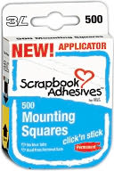 "Click 'n Stick Permanent Mounting Squares 500/Pkg-White .5""X.5"" by 3L: Product Image"
