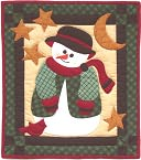 "Snowman Quilt Kit-13""X15"" by Rachel's Of Greenfield: Product Image"