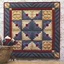 "Log Cabin Star Wall Hanging Quilt Kit-22""X22"" by Rachel's Of Greenfield: Product Image"
